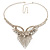 Swarovski Crystal Modern Appeal Bib Necklace and Earrings Set (Silver Tone) - view 12