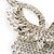 Swarovski Crystal Modern Appeal Bib Necklace and Earrings Set (Silver Tone) - view 6