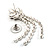 Swarovski Crystal Modern Appeal Bib Necklace and Earrings Set (Silver Tone) - view 4