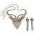 Swarovski Crystal Modern Appeal Bib Necklace and Earrings Set (Silver Tone) - view 14