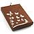 Purple Open-Cut Disk Enamel Organza Cord Necklace & Drop Earrings Set (Bronze Tone) - view 17