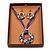 Purple Open-Cut Disk Enamel Organza Cord Necklace & Drop Earrings Set (Bronze Tone) - view 2