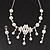 Bridal Swarovski AB/Clear Crystal Floral Necklace & Earrings Set In Rhodium Plated Metal - view 5