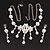 Bridal Swarovski AB/Clear Crystal Floral Necklace & Earrings Set In Rhodium Plated Metal - view 8