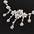 Bridal Swarovski AB/Clear Crystal Floral Necklace & Earrings Set In Rhodium Plated Metal - view 6