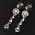 Bridal Swarovski AB/Clear Crystal Floral Necklace & Earrings Set In Rhodium Plated Metal - view 7