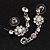 Bridal Swarovski AB/Clear Crystal Floral Necklace & Earrings Set In Rhodium Plated Metal - view 11