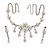 Bridal Swarovski AB/Clear Crystal Floral Necklace & Earrings Set In Rhodium Plated Metal - view 4