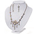 Bridal Swarovski AB/Clear Crystal Floral Necklace & Earrings Set In Rhodium Plated Metal - view 13