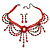 Red Gothic Costume Choker Necklace And Earring Set - view 2