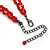Red Gothic Costume Choker Necklace And Earring Set - view 7