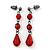Red Gothic Costume Choker Necklace And Earring Set - view 5