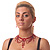 Red Gothic Costume Choker Necklace And Earring Set - view 3