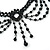 Black Gothic Costume Choker Necklace And Earring Set - view 5