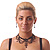 Black Gothic Costume Choker Necklace And Earring Set - view 3