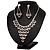 Bridal Swarovski Crystal Bib Necklace And Drop Earring Set In Rhodium Plated Metal - view 15