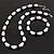White & Royal Blue Imitation Pearl Bead With Diamante Ring Necklace, Bracelet & Earrings Set (Silver Tone Metal) - 44cm L/ 4cm Ext - view 12