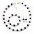 White & Royal Blue Imitation Pearl Bead With Diamante Ring Necklace, Bracelet & Earrings Set (Silver Tone Metal) - 44cm L/ 4cm Ext - view 16