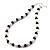 White & Royal Blue Imitation Pearl Bead With Diamante Ring Necklace, Bracelet & Earrings Set (Silver Tone Metal) - 44cm L/ 4cm Ext - view 18