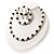 White Imitation Pearl & Black Glass Bead With Diamante Ring Necklace, Bracelet & Earrings Set (Silver Tone Metal) - view 9