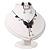 Romantic Faux Pearl 'Butterfly' Necklace & Drop Earrings Set In Black Metal - view 11
