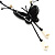 Romantic Faux Pearl 'Butterfly' Necklace & Drop Earrings Set In Black Metal - view 13