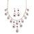 Bridal Purple/Clear Diamante 'Teardrop' Necklace & Earrings Set In Silver Plating