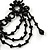 Black Glass Bead Gothic Costume Choker Necklace And Earring Set In Silver Plating - view 7