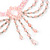 Pale Pink Gothic Costume Choker Necklace And Earring Set - view 4