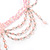 Pale Pink Gothic Costume Choker Necklace And Earring Set - view 5