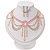 Pale Pink Gothic Costume Choker Necklace And Earring Set - view 3