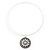 Antique White Medallion Flex Wire Necklace & Earrings Set In Silver Plating - Adjustable - view 5