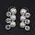 Stunning Bridal Diamante/Simulated Pearl Drop Earring Set In Silver Metal - 46cm Length/7cm Extension - view 6