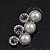 Stunning Bridal Diamante/Simulated Pearl Drop Earring Set In Silver Metal - 46cm Length/7cm Extension - view 10