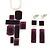 Grape Soda Purple 'Summer Shapes' Necklace & Drop Earrings Set In Matte Silver Plating - 40cm Length/ 7cm Extension - view 2