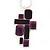 Grape Soda Purple 'Summer Shapes' Necklace & Drop Earrings Set In Matte Silver Plating - 40cm Length/ 7cm Extension - view 3