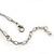Purple/ Cream Enamel Square Tassel Pendant & Drop Earrings Set In Rhodium Plating - 38cm Length/ 5cm Extension - view 5