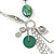 Long Green Resin Nugget Tassel Necklace and Earring Set In Silver Tone - 78cm Length (5cm extension) - view 9