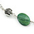 Long Green Resin Nugget Tassel Necklace and Earring Set In Silver Tone - 78cm Length (5cm extension) - view 10