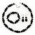 Black Glass/Crystal Bead Necklace, Flex Bracelet & Drop Earrings Set In Silver Plating - 44cm Length/ 5cm Extension