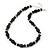 Black Glass/Crystal Bead Necklace, Flex Bracelet & Drop Earrings Set In Silver Plating - 44cm Length/ 5cm Extension - view 2
