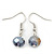 Purple/ Violet Shell & Crystal Floating Bead Necklace & Drop Earring Set - 52cm Length/ 5cm extension - view 6