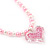 Children's Pink/ White Imitation Pearl Bead Heart Flex Necklace & Flex Bracelet Set - view 3