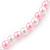 Children's Pink/ White Imitation Pearl Bead Heart Flex Necklace & Flex Bracelet Set - view 4