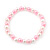 Children's Pink/ White Imitation Pearl Bead Heart Flex Necklace & Flex Bracelet Set - view 5