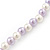 Children's Lavender/ White Imitation Pearl Bead Heart Flex Necklace & Flex Bracelet Set - view 4