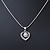 Delicate Crystal, Simulated Pearl 'Heart' Pendant With Silver Tone Snake Chain & Stud Earrings Set - 40cm Length/ 6cm Extension - view 11