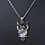 Milky White Moonstone 'Wise Owl' Pendant With Silver Tone Chain & Drop Earrings Set - 44cm Length/ 5cm Extension - view 5