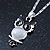 Milky White Moonstone 'Wise Owl' Pendant With Silver Tone Chain & Drop Earrings Set - 44cm Length/ 5cm Extension - view 4