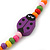 Children's Multicoloured Ladybug Wooden Flex Necklace & Flex Bracelet Set - view 4